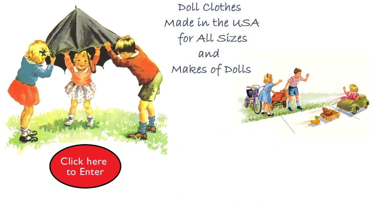Doll clothes / Clothing for all sizes and makes of dolls ...